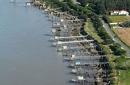 Carrelets de Port-des-Barques vue du ciel