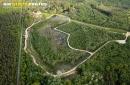 Poigny-la-Forêt vue du ciel