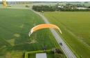 Paramoteur en 'ïle-de-France vue du ciel