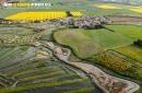 Marais de Talmont-Saint-Hilaire vue du ciel