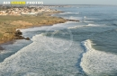 La houle à Brétignolles-sur-Mer vue du ciel