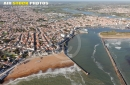 Port de Saint-Gilles-Croix-de-Vie vue du ciel