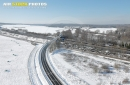 Longevilliers sous la neige vue du ciel