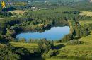 Etang de pêche de Saint-Maurice-Montcouronne vue du ciel
