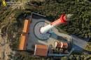 Vue aérienne du phare de la Coubre en Charente