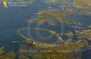 cabane de chasse  de  Gujan-Mestras  vue du ciel