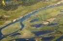Le port des tuiles à Biganos vue du ciel