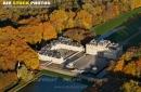 Château du marais vue du ciel en Automne