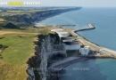Vue aérienne du port du Havre-Antifer 76