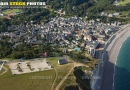 Vue aérienne d'Etretat  Seine maritime 76