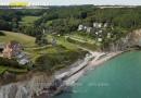 Vue aérienne plage de Vaucottes Seine maritime 76