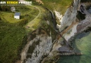 Vue aérienne falaise Eletot Seine maritime 76