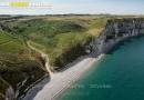 Vue aérienne plage la Valleuse d'Antifer Seine maritime 76