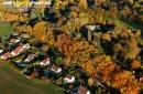 Angervilliers couleurs d'automne vue du ciel