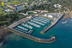 Bourgenay port, Talmont-Saint-Hilaire seen from the sky