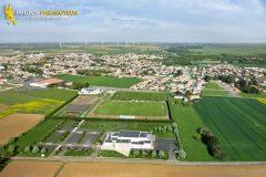 Longeville-sur-Mer seen from the sky in Vendée department