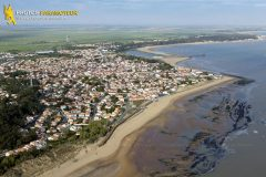 La-Tranche-sur-Mer seen from the sky in  Vendee