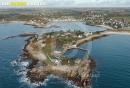Presqu'île du Vivier, Landunvez vue du ciel