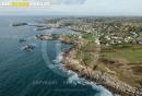 Lanildut , Bretagne Finistère vue du ciel