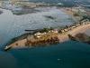Pointe de Merquel vue du ciel , Mesquer-Quimiac