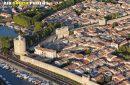 Remparts d'Aigues-Mortes (30220), vue du ciel