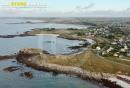 Ploudalmézeau Porsquen , Bretagne Finistère vue du ciel