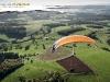 Paramoteur vue du ciel en Auvergne