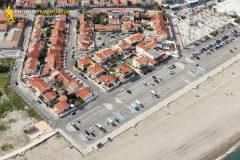 Barcarès beach seen from the sky in Occitanie