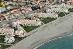 Port-Barcarès beach vacation rental seen from the sky in Languedoc-Roussillon