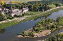 Cour sur Loire vu du ciel , département du Loir-et-Cher