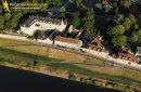 Saint-Dyé-sur-Loire, France - 25 Juin 2011: Saint-Dyé-sur-Loire vu du ciel 41500