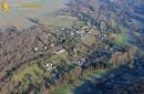 Courgent village seen from the sky in Yvelines department