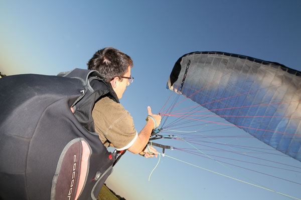 Gomflage voile parapente