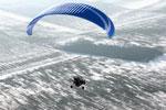 vol en chariot paramoteur  biplace sous la neige