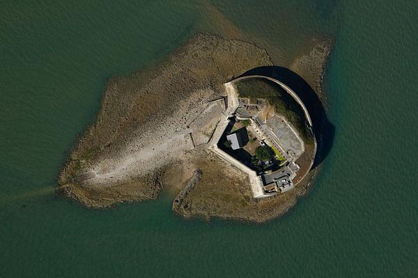 vue aérienne du Fort Enet , Charente-Maritime (17)