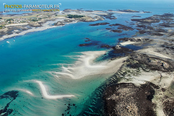 île de Batz ,le Finistere vue du ciel