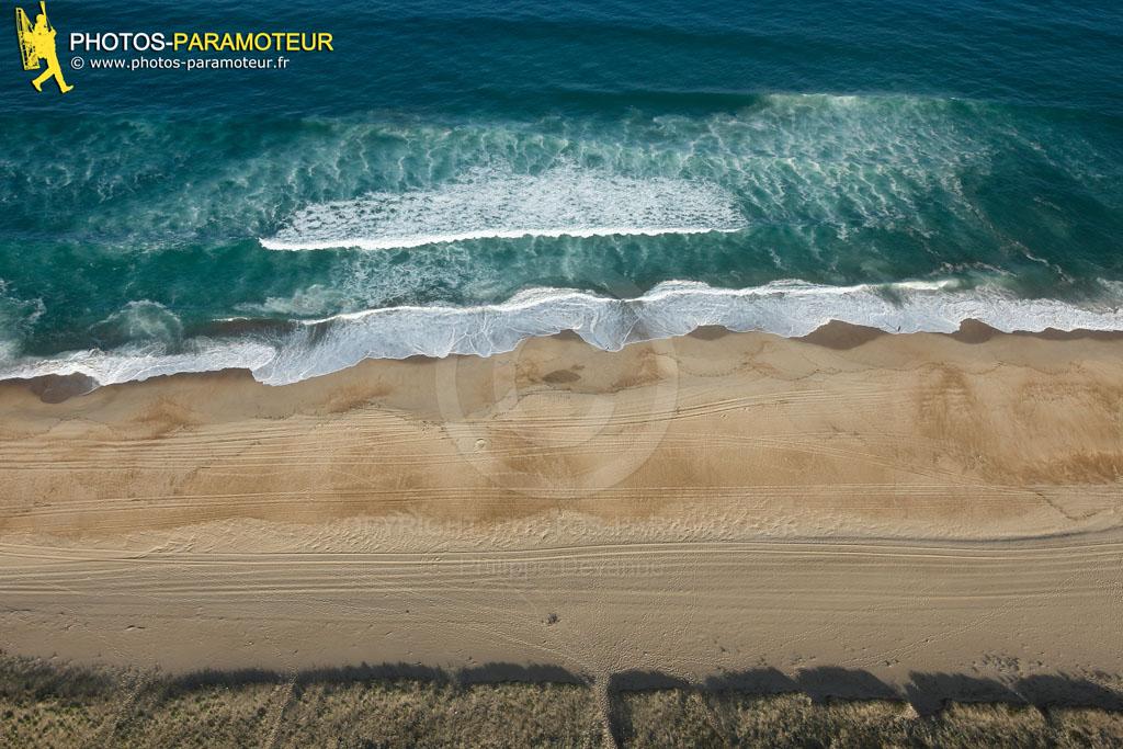 Les plages d'atlantique vue du ciel