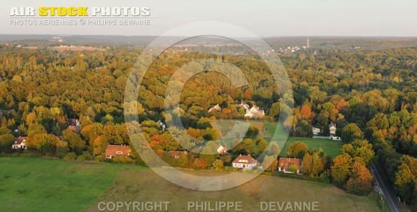 Les Monts Gras, Sonchamp 78 vue du ciel