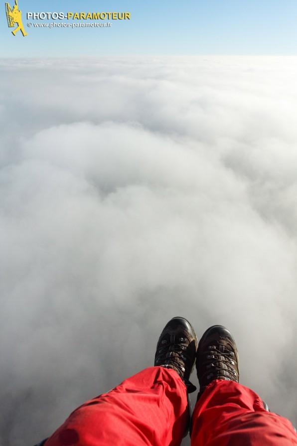 20 janvier 2016. Vol dans les nuages avec Waldek et Olivier en île de France