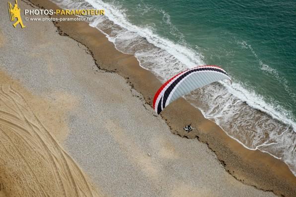 Photo aérienne paramoteur à Bretignolles-sur-Mer (85470) , département de la Vendée; région Pays de la Loire, France. Prise de vue 26 avril 2016