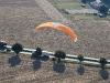 Vue aerienne en paramoteur
