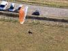 Paramoteur au dessus de la base de Mauchamps 91