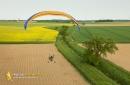 Paramoteur en biplace Limours vue du ciel