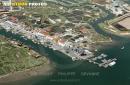 Port Ostréicole de La Tremblade vue du ciel