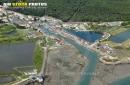 Port ostréicole de Saint-Trojan-les-Bains vue du ciel