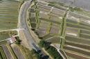 Pont de la Seudre , Marennes vue du ciel