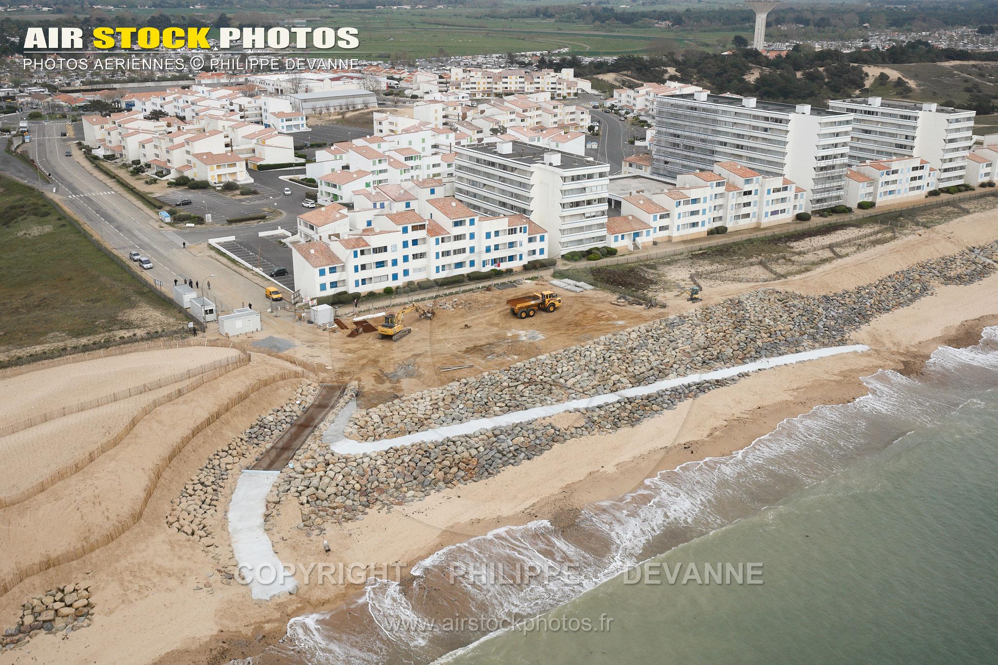 Les Marines, Saint-Hilaire-de-Riez vue du ciel