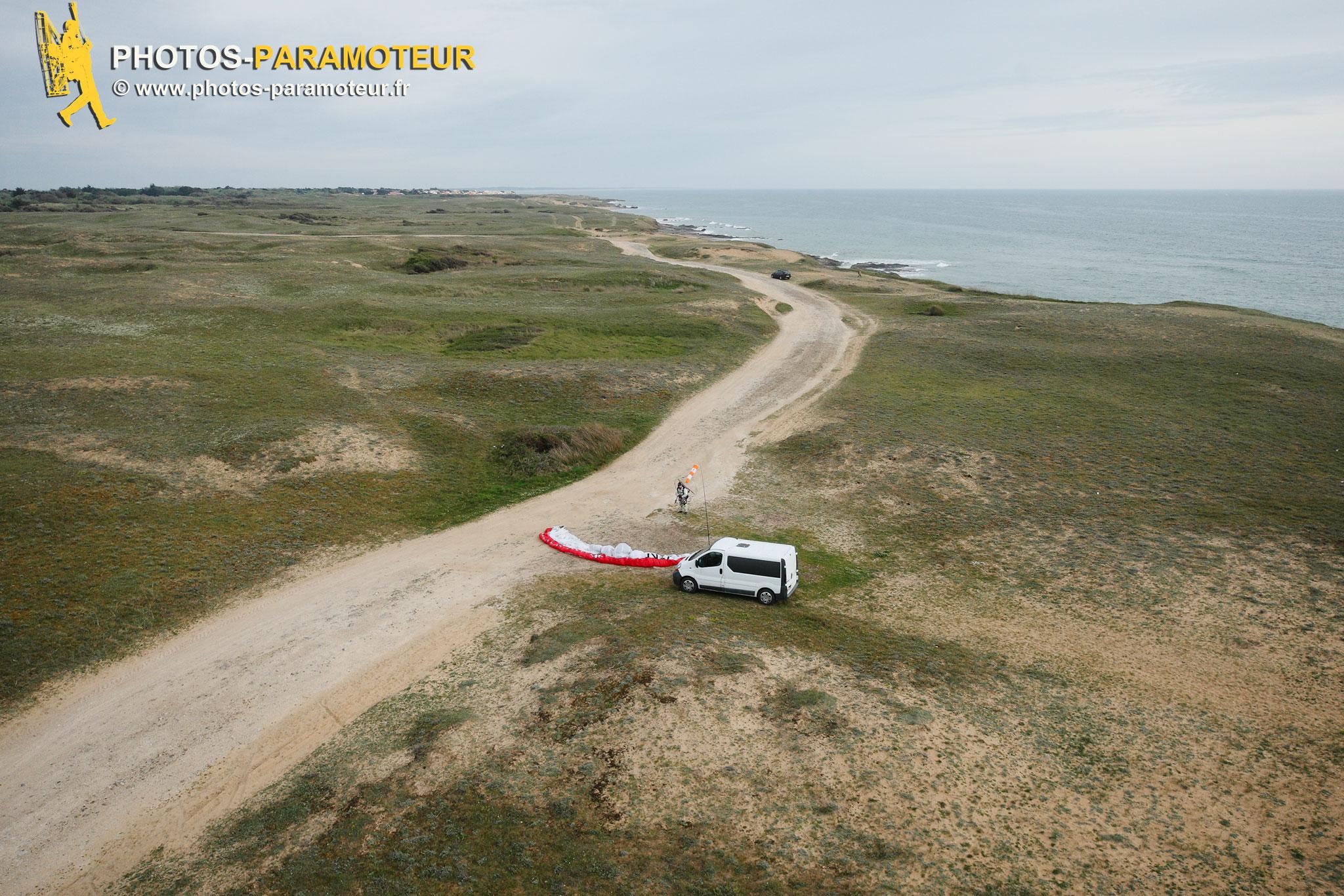 Paramoteur Bretignolles-sur-Mer vue du ciel