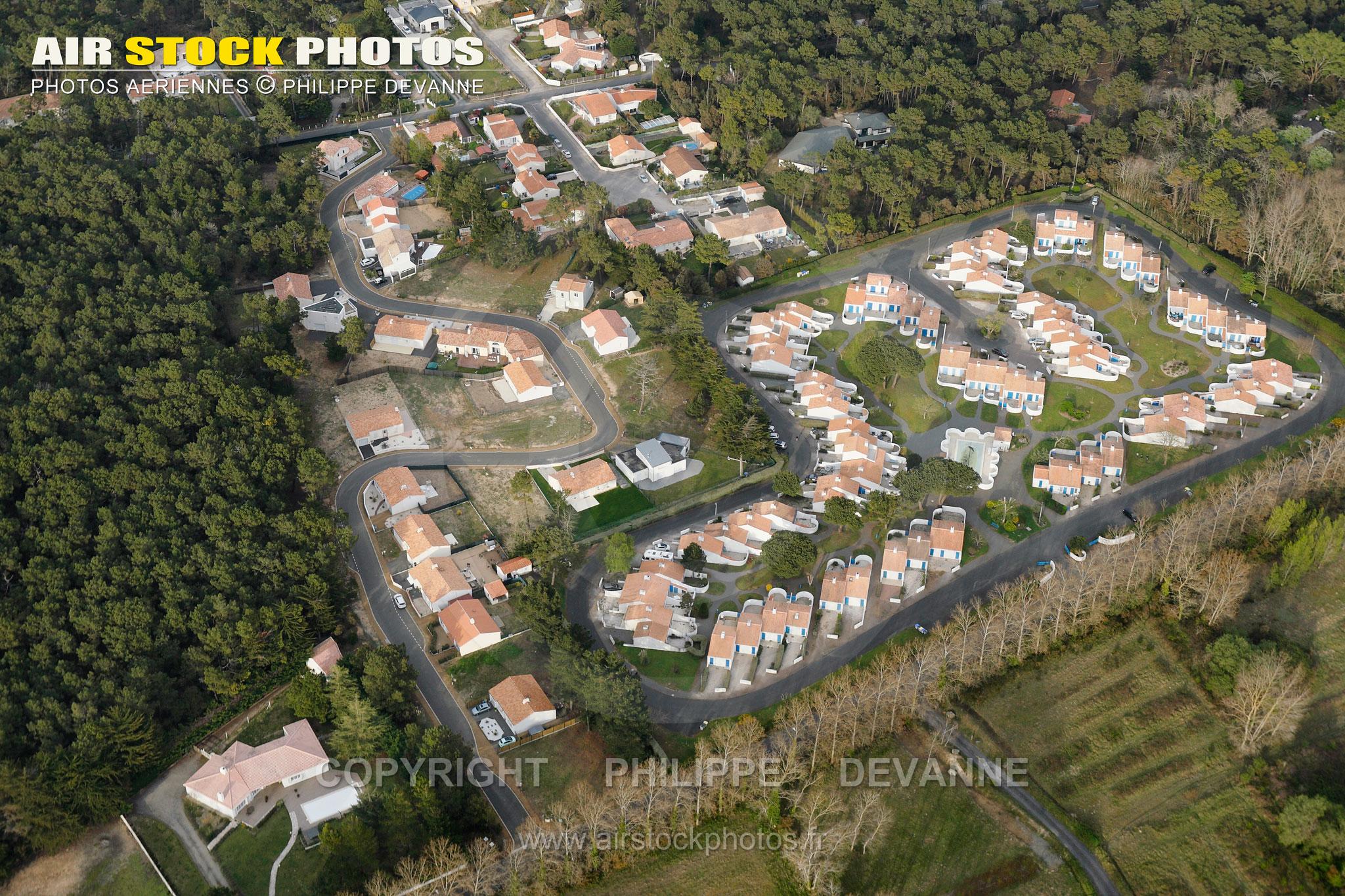 Saint-Jean-de-Monts vue du ciel