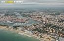 Saint-Gilles-Croix-de-Vie vue du ciel